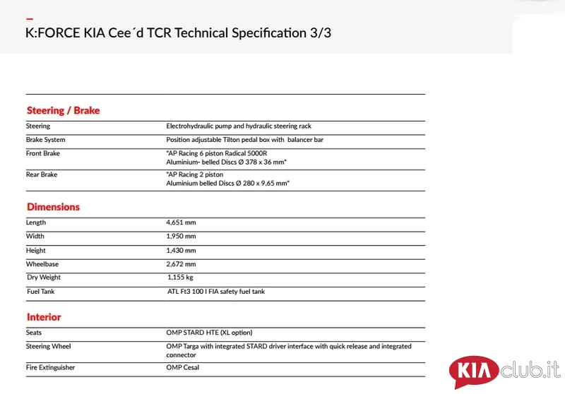KIA cee'd TCR