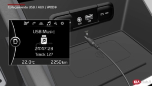 Niro - Collegamento USB  AUX  iPOD® (For EU)