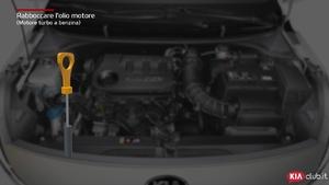 Rio - Rabboccare l'olio motore [Motore turbo a benzina] (For Italy)