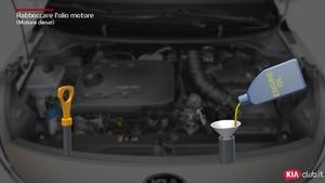 Rio - Rabboccare l'olio motore [Motore diesel] (For Italy)
