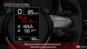 Rio - Controllo computer di viaggio [con quadro strumenti convenzionale] (For Italy)